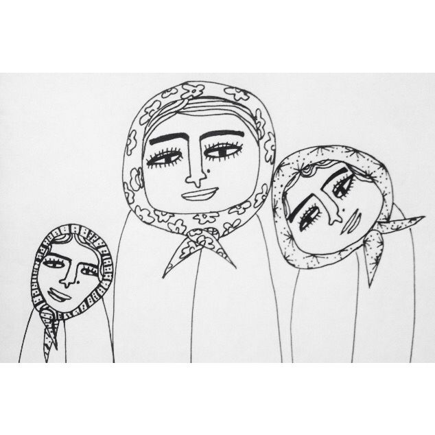 Muslim Girls #Girls #muslims #illustrated #illustration