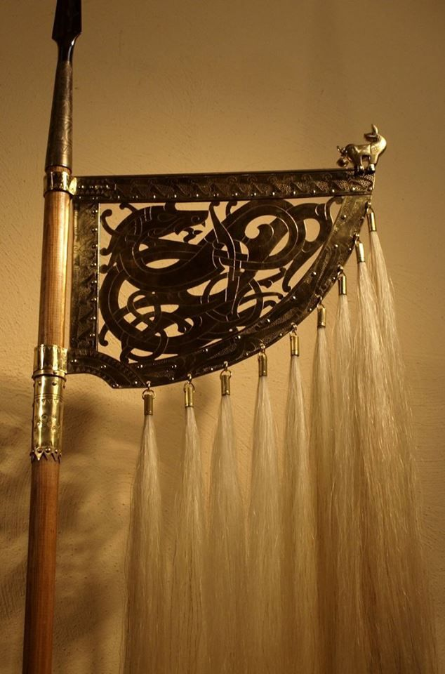 Viking weather vane.. how cool is this.. Maybe use the metal Nazca piece and add horse hair for a weathervane?