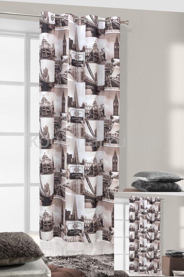 LONDON TOWER zasłony gotowe do sypialni w kolorze szarym
