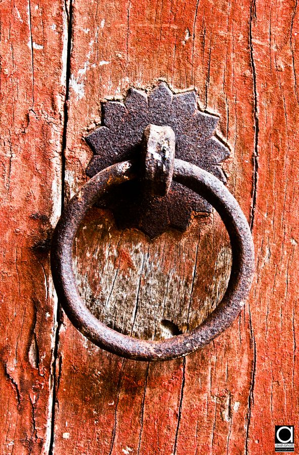 Door handle of an ancient palace gate...