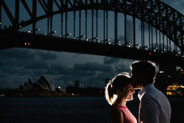 Iconic Sydney at Night. Engagement Photographer Sydney
