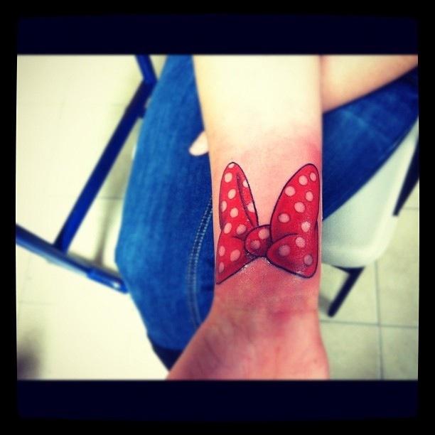 Love my Minnie Mouse Bow tattoo :)