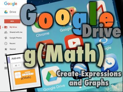 Google Math g(Math) Add-on for Google Drive    Create and insertMath ExpressionsandGraphsin Google DOCS SHEETS and FORMS using a new add-on for Google Drive called g(Math)   This guide has instructions for accessing the g(Math) add-on and step-by-step instructions for using it   Use g(Math) with Google Forms to createonline quizzesand tests   For multiple choice quizzes you can use the Flubaroo add-on in Drive to grade the quiz for you!  G(Math) Add-on Guide  GAFE Google Drive graphs Math…