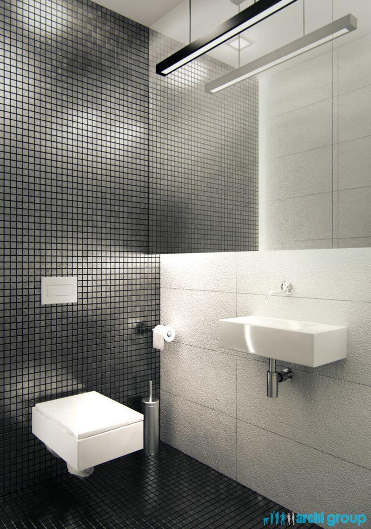 Bathroom design in Katowice POLAND - archi group. Łazienka w domu jednorodzinnym w Katowicach.