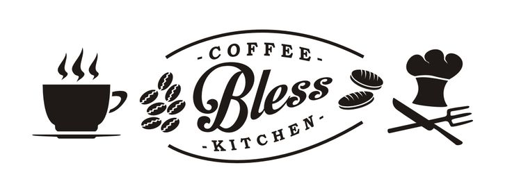 "2015 | Shop Sign ""Bless Coffee and Kitchen"""