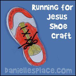 Running for Jesus Shoe Craft