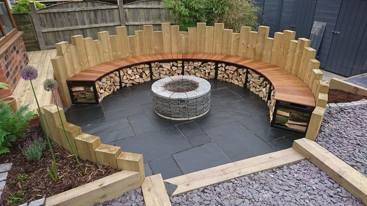 Fire Pit And Circular Seating Outdoor Fire Pit Seating Backyard Fire Backyard
