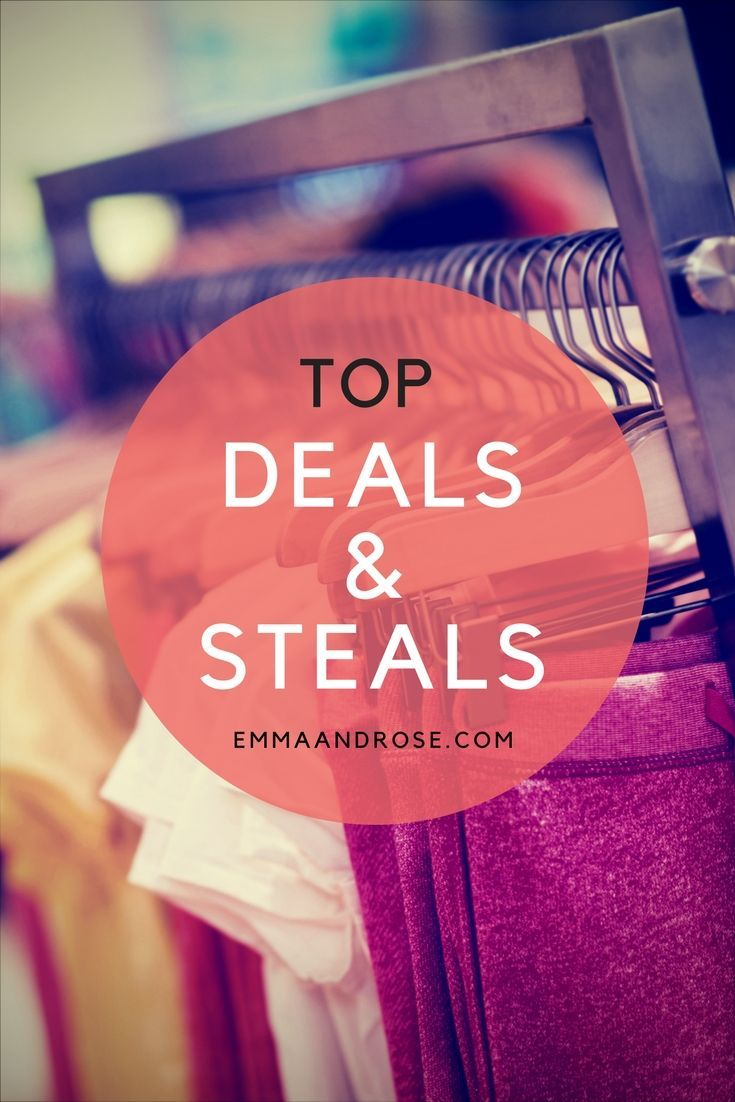 Welcome to Deals & Steals where you'll find great sales, bothonline and in-store sales. The list is frequently updated so check back often.