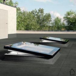 Fen tre de toit fixe dxf du6 pour toit plat 120 x 120 cm for Fenetre de toit plat