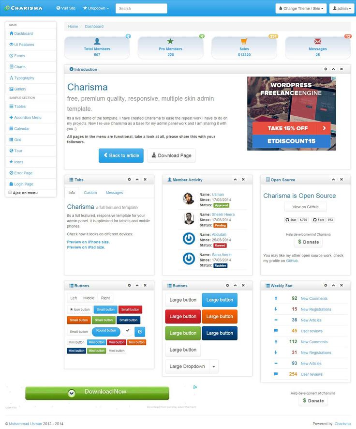 42 best Design Vast images on Pinterest | Design, Admin panel ...