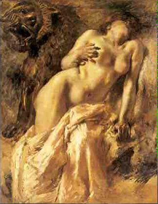 Gaetano #Previati La morte di Cleopatra Hi teacher
