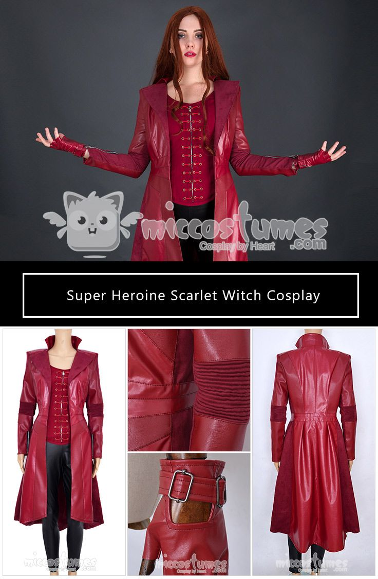AVENGERS Scarlet Witch Wanda cosplay costume red jacket custom made