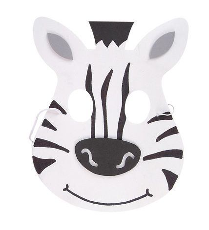 Heading out to an animal themed birthday party or other special occasion? Check out these super cute Foam Zebra Masks! Perfect for completing the zebra fancy dress outfit. Features protruding ears and layered foam to give a 3D look to the mask. The mask simply slips over the head (any size from child to adult) and attaches with elastic.