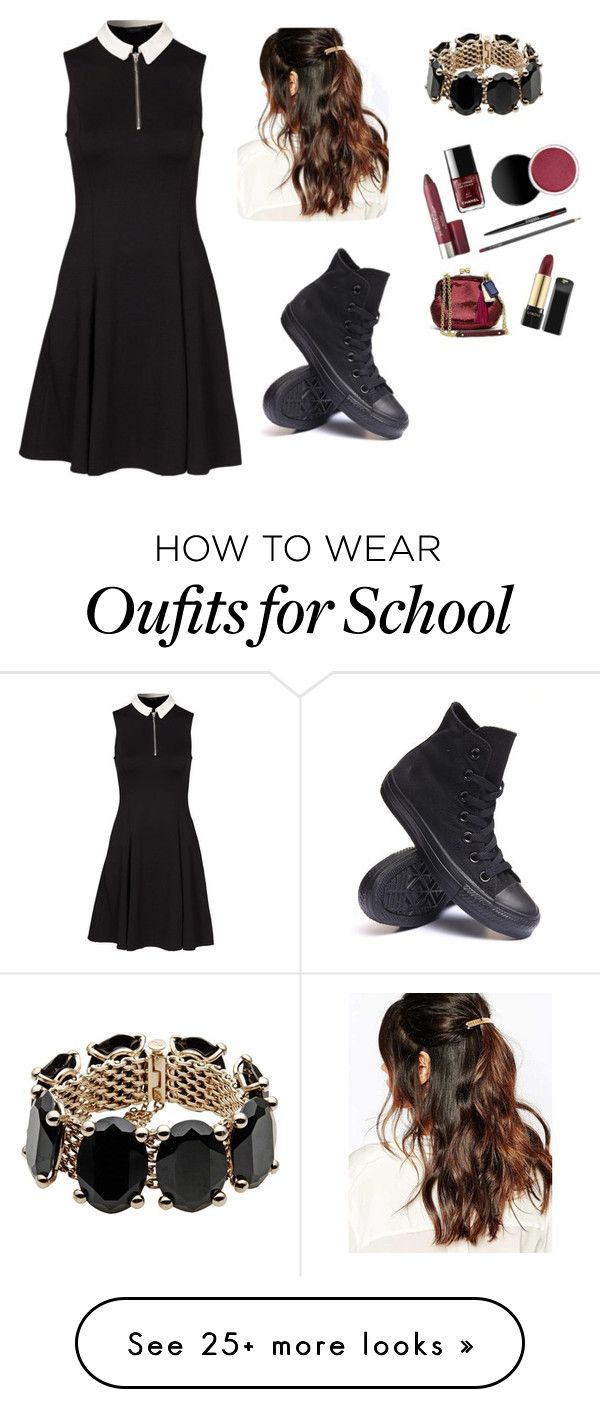 """Dress Up Day (school)"" by bnc03 on Polyvore featuring New Look, Suzywan DELUXE, Valentino and Converse"
