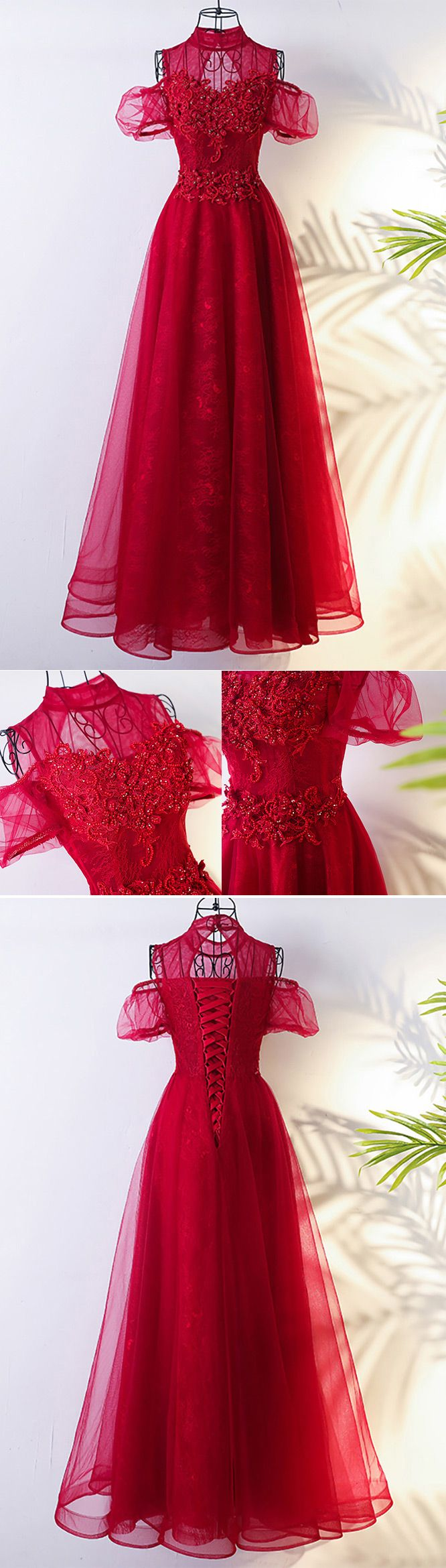 Only $118, Prom Dresses Lolita Long Tulle Burgundy Formal Party Dress With High Neck #MYX18219 at #GemGrace. View more special Bridal Party Dresses,Prom Dresses now? GemGrace is a solution for those who want to buy delicate gowns with affordable prices, a solution for those who have unique ideas about their gowns. 2018 new arrivals, shop now to get $10 off!