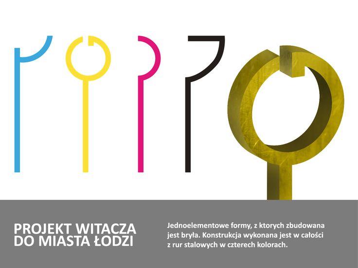 Character concept for the city gates Łódź