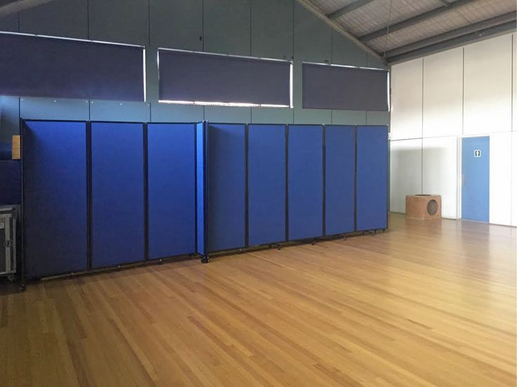 Portable Partitions will divide and create space for staging & organization in large rooms, auditoriums, and cafeterias.