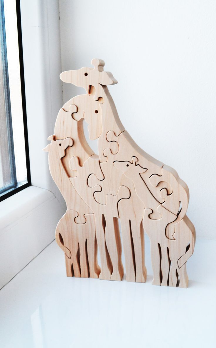 Christmas Kids gifts, Animal puzzle,  Wooden Puzzle giraffe, Puzzle Toy, Kids gifts, Wooden giraffe, big giraffes family by LadyEvaDESIGN on Etsy https://www.etsy.com/ca/listing/266955371/christmas-kids-gifts-animal-puzzle