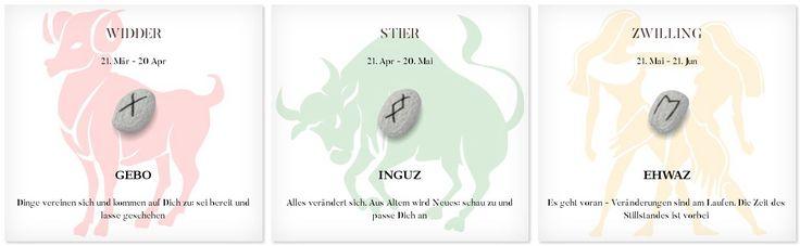 Runen Tageshoroskop 8.6.2017 #Sternzeichen #Runen #Horoskope #widder #stier #zwilling