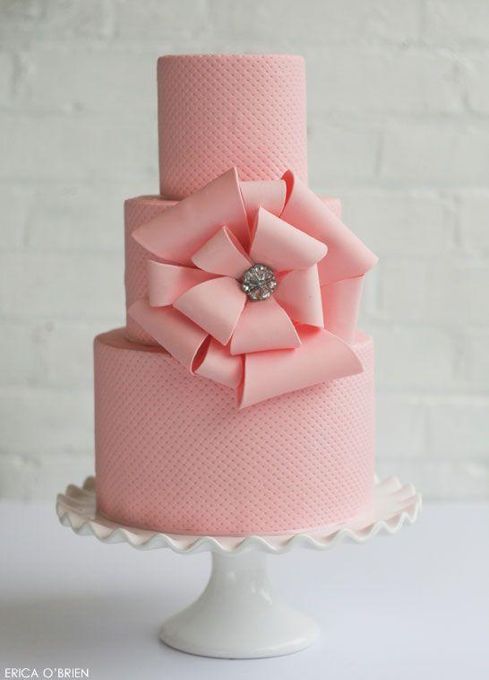 Pink Awareness Cake | by Erica O'Brien | TheCakeBlog,com