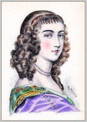 """Coiffure Louis XIV. Ninon de Lenclos (1620-1705) """"Ninon was ever the chatter of France..."""""""