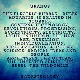 Uranus rules 11th house/Aquarius