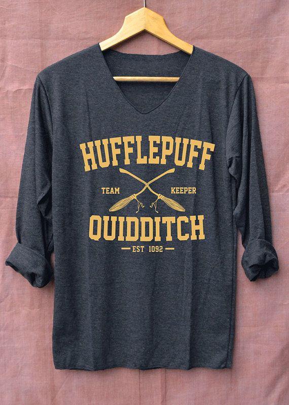 Nouveaux maillots de Harry Potter Quidditch Poufsouffle noir à manches longues unisexe adultes taille S M L XL