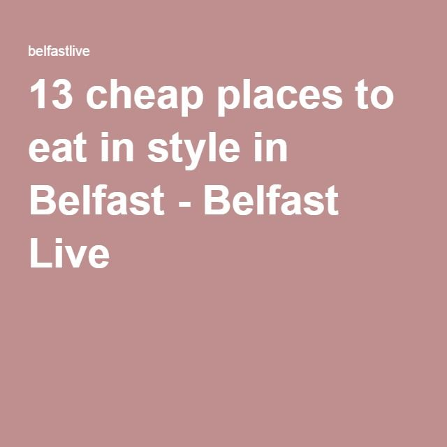 Good Places Eat Cheap
