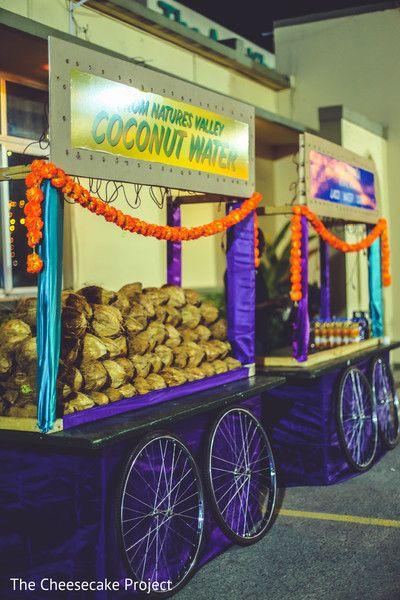 Sangeet coconut station.