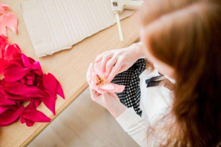 Workshops Papieren Pioenrozen maken op Flavourites Live | Splendith