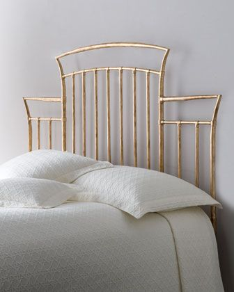 """Maria"" Golden Headboard at Horchow."