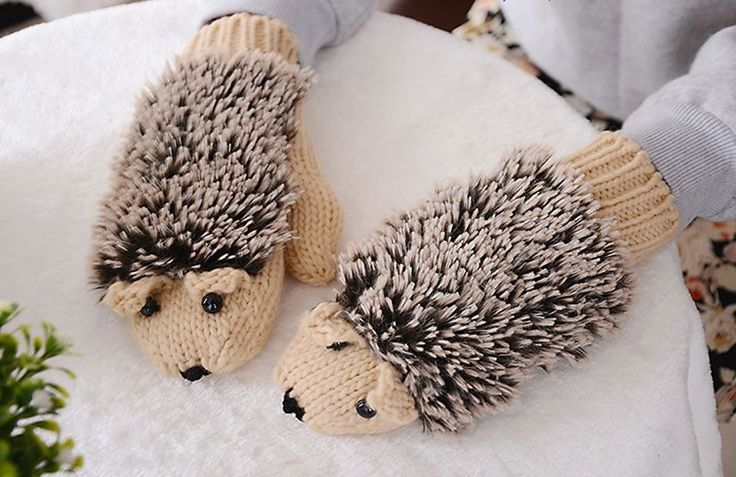 Hedgehog Winter Gloves / Mittens