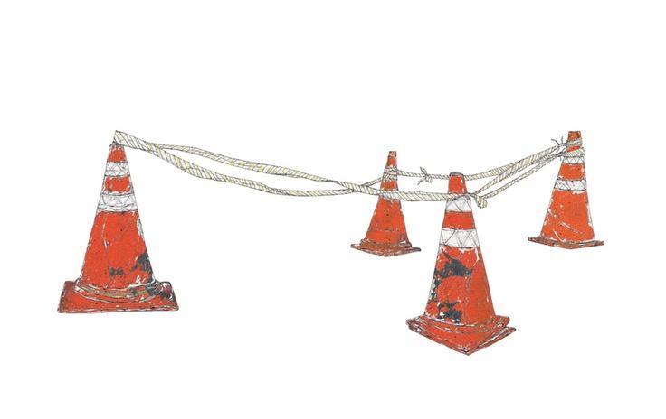 rubber cone (750x470mm)