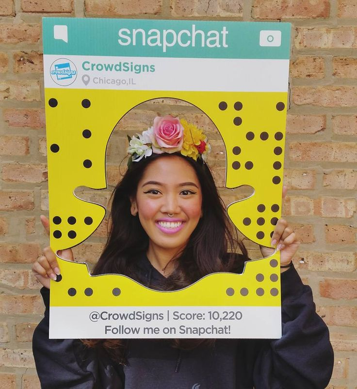 DIY Snapchat Filter Costume. Need we say more? Order our Snapchat frame at CrowdSigns.com & you're Halloween ready!