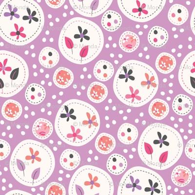 Flora (lilac) fabric @spoonflower.com