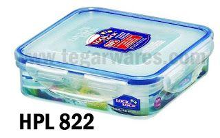 Lock & Lock HPL 822: Size 155 x 155 x 45ml 600ml