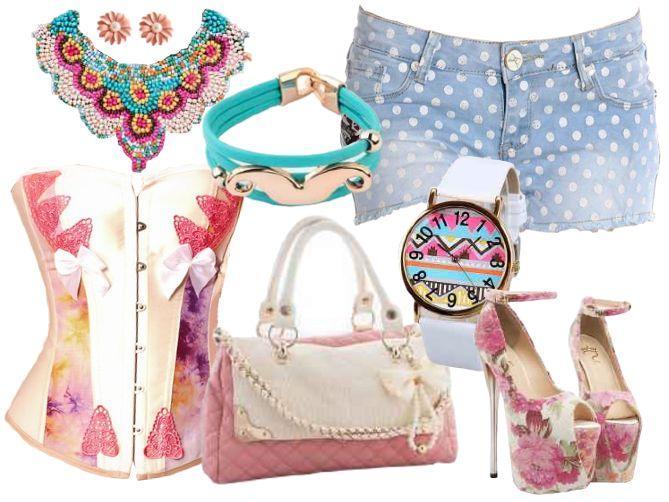 ¡Pon color a tu primavera! Nuestro Outfit Spring'14. #outfit #shorts #corse #primavera  Corsé: http://www.luzdemoda.es/es/corse-blanco-estiu Short: http://www.luzdemoda.es/es/topos-shorts