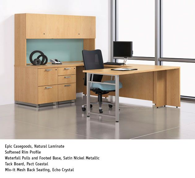 National Office Furniture   Epic Casegoods With Mix It Task/work Seating In  Private Office.