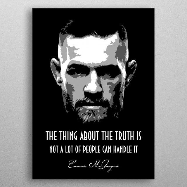 Conor Mcgregor Metal Poster Training Quotes Conor Mcgregor Quotes Fighter Quotes