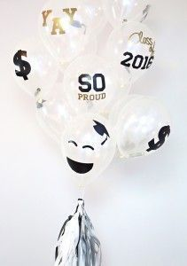 Graduation Balloon Gift Idea| Party Checklist, Best Graduation Gifts, Graduation Ideas, Graduation 2016, Balloon Decorations, Diy Party, Prom Party, P...
