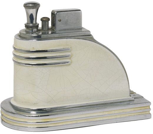 Ronson Art Deco Cigarette lighter - c. 1925 - Newark, US - Victoria and Albert Museum - before my time