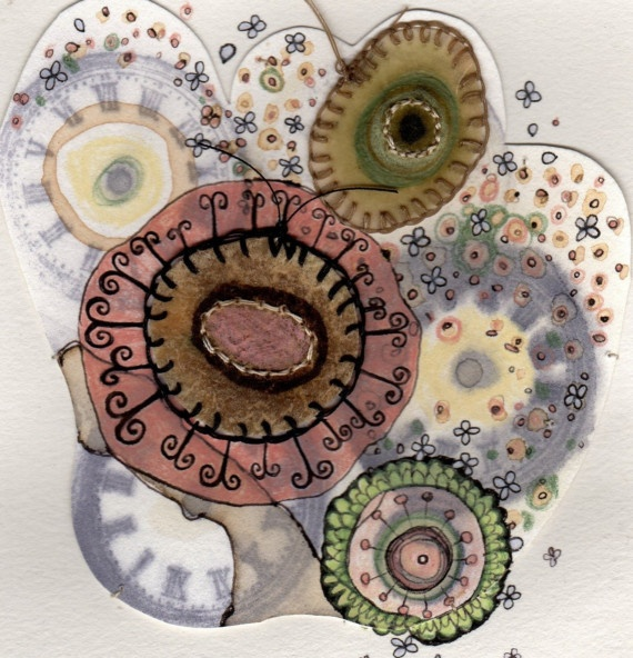mixed media drawing by Michelle Moode.
