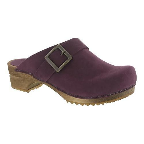 Women's Sanita Clogs Urban Open Clog Aubergine Oil