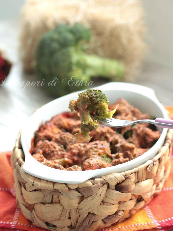 Broccoli au gratin with bechamel