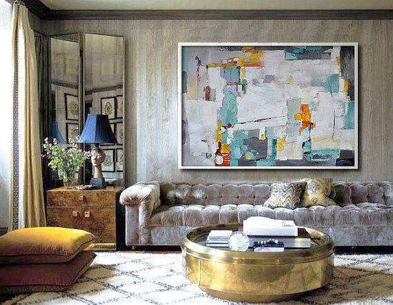 Original Painting Hand Made Large Abstract Art por CelineZiangArt
