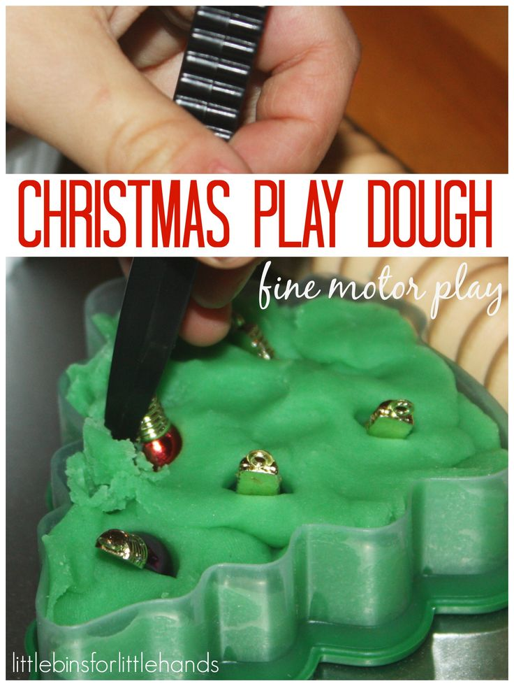 Christmas play dough fine motor play motor activities for Playdough fine motor skills