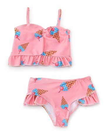 Pink & Blue Ice Cream Tankini - Infant, Toddler & Girls #zulily #zulilyfinds