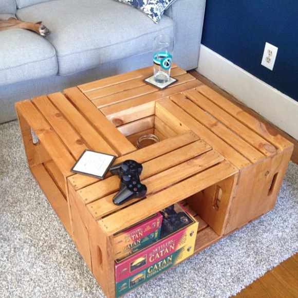 DIY Crate Coffee Table Via Pearls Cowboy Boots