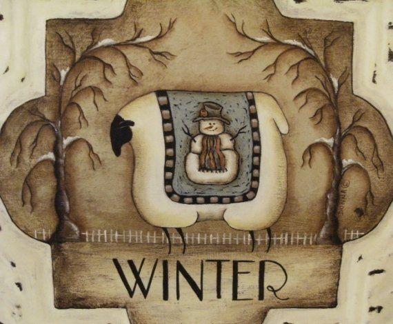 4 Seasonal Sheep Prints. Set of four square Seasons Sheep folk art prints. Spring - Summer - Autumn - Winter. Donna Atkins on Etsy, $20.00
