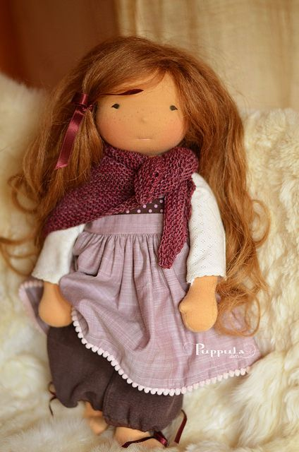 Raspberry Choco Cake outfit for a 17/18 inch doll by Puppula, via Flickr